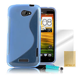 HTC One X S-Line gel case - Light Blue Mobile phones