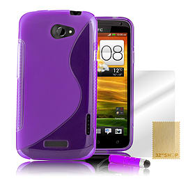 HTC One X S-Line gel case - Purple Mobile phones