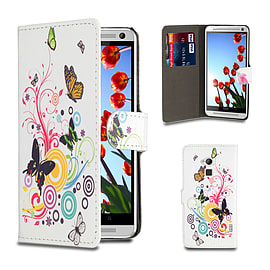 HTC One Max T6 PU leather design book case - Colour Butterfly Mobile phones
