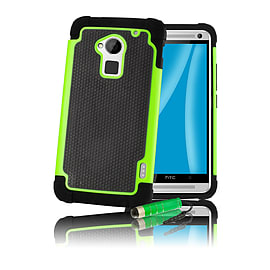 HTC One Max T6 Dual-layer shockproof case - Green Mobile phones