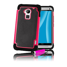 HTC One Max T6 Dual-layer shockproof case - Hot Pink Mobile phones