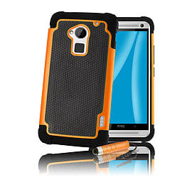 HTC One Max T6 Dual-layer shockproof case - Orange Mobile phones