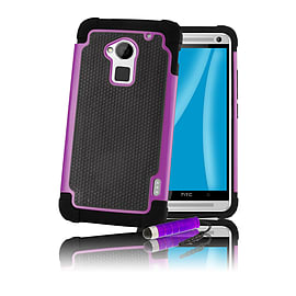 HTC One Max T6 Dual-layer shockproof case - Purple Mobile phones