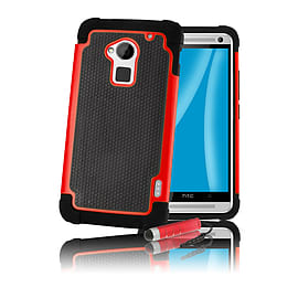 HTC One Max T6 Dual-layer shockproof case - Red Mobile phones