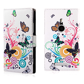 Nokia Lumia 930 PU Leather Design book case - Colour Butterfly Mobile phones