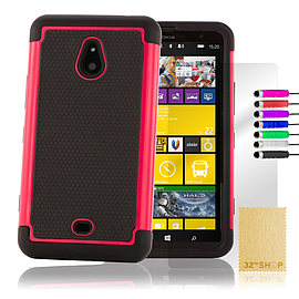 Nokia Lumia 1320 Dual-layer shockproof case - Hot Pink Mobile phones