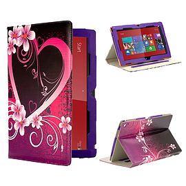 Nokia Lumia 2520 PU Leather Design book case - Love Heart Mobile phones