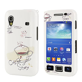 Samsung Galaxy Ace Cute design hard shell case - Coffee Story Mobile phones
