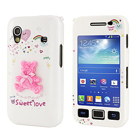 Samsung Galaxy Ace Cute design hard shell case - Pink Teddy Bear Mobile phones