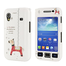 Samsung Galaxy Ace Cute design hard shell case - Red Horse Mobile phones
