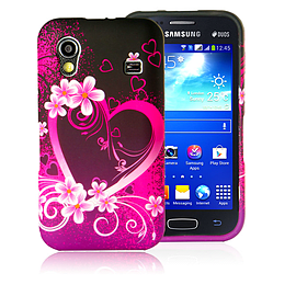 Samsung Galaxy Ace TPU design case - Love Heart Mobile phones