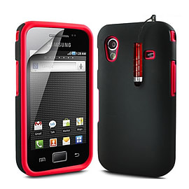 Samsung Galaxy Ace Dual-layer case - Red Mobile phones
