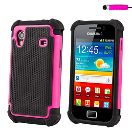Samsung Galaxy Ace Dual-layer shockproof case - Baby Pink Mobile phones