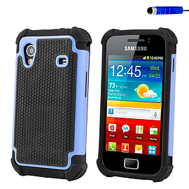 Samsung Galaxy Ace Dual-layer shockproof case - Light Blue Mobile phones
