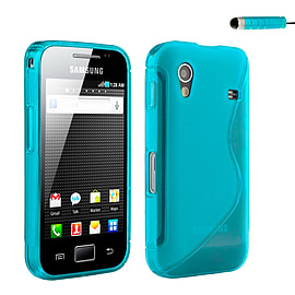 Samsung Galaxy Ace S-Line Gel case - Light Blue Mobile phones