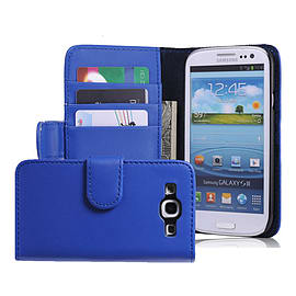 Samsung Galaxy S3 Stylish PU leather wallet case - Deep Blue Mobile phones