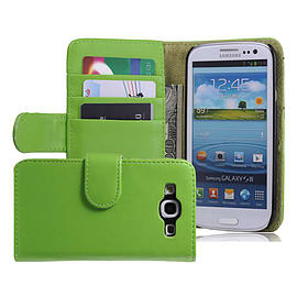 Samsung Galaxy S3 Stylish PU leather wallet case - Green Mobile phones