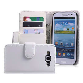 Samsung Galaxy S3 Stylish PU leather wallet case - White Mobile phones