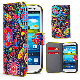 Samsung Galaxy S3 PU leather design book case - Jellyfish Mobile phones