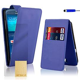 Samsung Galaxy S3 Stylish PU leather flip case - Deep Blue Mobile phones
