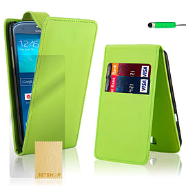 Samsung Galaxy S3 Stylish PU leather flip case - Green Mobile phones
