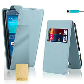 Samsung Galaxy S3 Stylish PU leather flip case - Light Blue Mobile phones