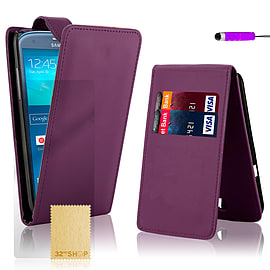 Samsung Galaxy S3 Stylish PU leather flip case - Purple Mobile phones