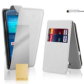 Samsung Galaxy S3 Stylish PU leather flip case - White Mobile phones