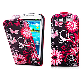Samsung Galaxy S3 PU leather design flip case - Gerbera Mobile phones