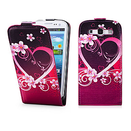 Samsung Galaxy S3 PU leather design flip case - Love Heart Mobile phones