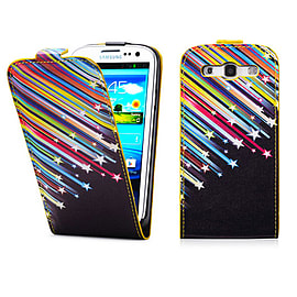 Samsung Galaxy S3 PU leather design flip case - Shooting Stars Mobile phones