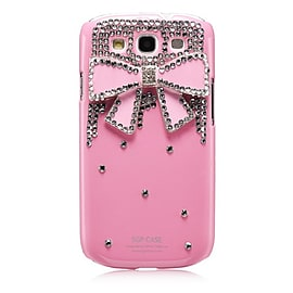 Samsung Galaxy S3 Sparkle Bow case - Baby Pink Mobile phones