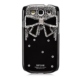 Samsung Galaxy S3 Sparkle Bow case - Black Mobile phones