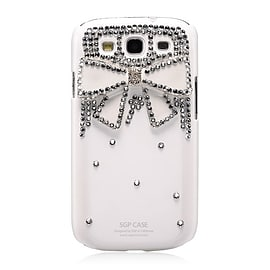Samsung Galaxy S3 Sparkle Bow case - White Mobile phones