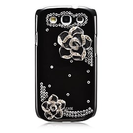 Samsung Galaxy S3 Sparkle Rose case - Black Mobile phones