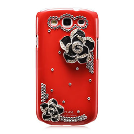 Samsung Galaxy S3 Sparkle Rose case - Red Mobile phones