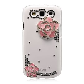 Samsung Galaxy S3 Sparkle Rose case - White Mobile phones