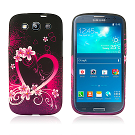 Samsung Galaxy S3 TPU Design case - Love Heart Mobile phones