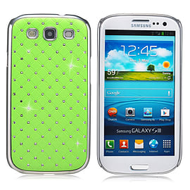 Samsung Galaxy S3 Twinkle Star hard shell case - Green Mobile phones