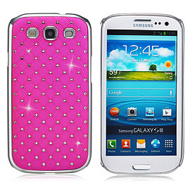 Samsung Galaxy S3 Twinkle Star hard shell case - Hot Pink Mobile phones