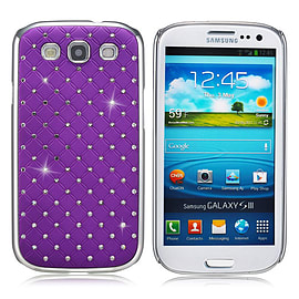 Samsung Galaxy S3 Twinkle Star hard shell case - Purple Mobile phones