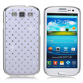 Samsung Galaxy S3 Twinkle Star hard shell case - White Mobile phones