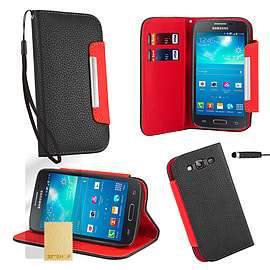 Samsung Galaxy S3 Stand-book PU leather case - Black Mobile phones