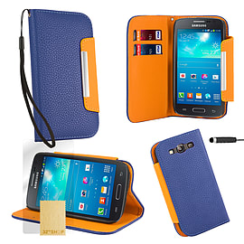 Samsung Galaxy S3 Stand-book PU leather case - Blue Mobile phones