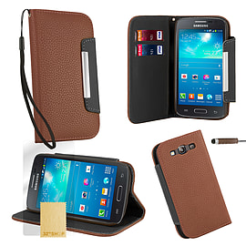 Samsung Galaxy S3 Stand-book PU leather case - Brown Mobile phones