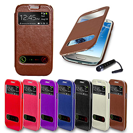 Samsung Galaxy S3 S-View window case - Brown Mobile phones