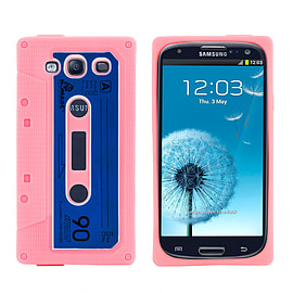 Samsung Galaxy S3 Retro Tape Cassette TPU design case - Baby Pink Mobile phones