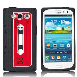 Samsung Galaxy S3 Retro Tape Cassette TPU design case - Black Mobile phones
