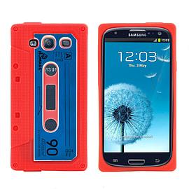 Samsung Galaxy S3 Retro Tape Cassette TPU design case - Red Mobile phones