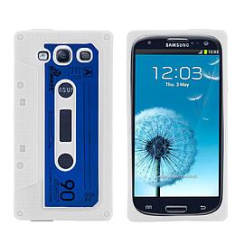 Samsung Galaxy S3 Retro Tape Cassette TPU design case - White Mobile phones
